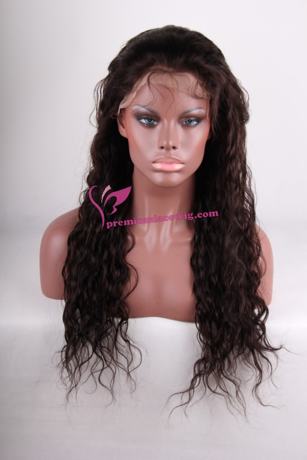 24inch 2# deep wave full lace wig PWS256