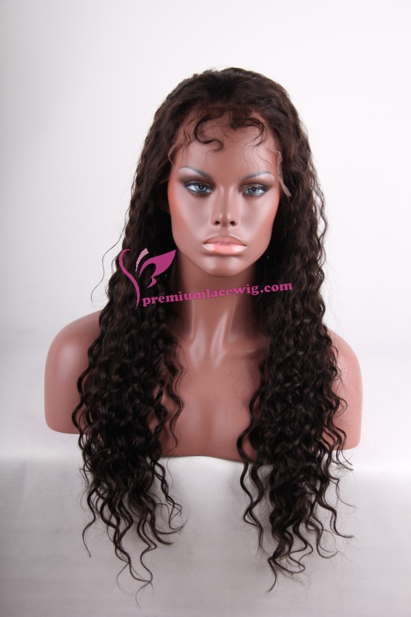 24inch natural color loose wave full lace wig PWS265