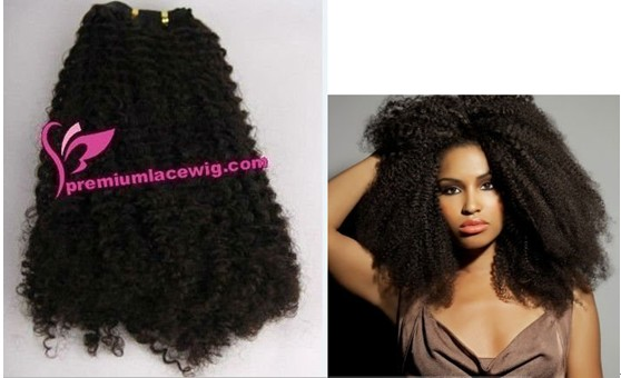 18inch Afro kinky curly hair weft PWS1200