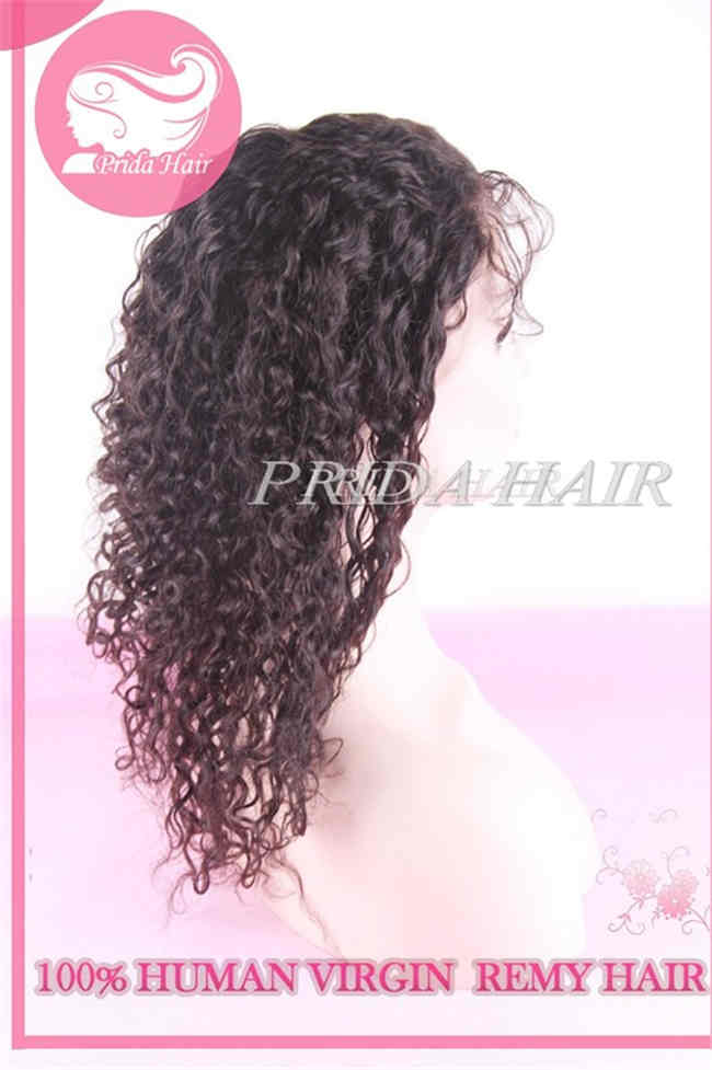 14 inch color 1B Brazilian human hair Full Lace Wigs