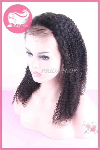 16inch color 1B Malaysian human hair Lace Wigs