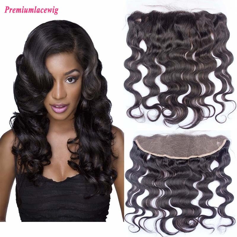 14 inch Body Wave Brazilian Hair 13x4 Lace Frontal
