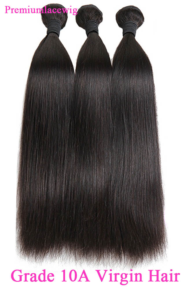 10A Straight Brazilian Virgin Hair Bundles Natural Color 18inch 1pc