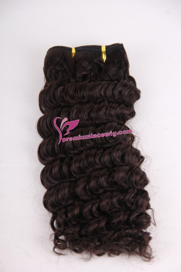 12inch 2# deep wave hand made hair weft PWC289