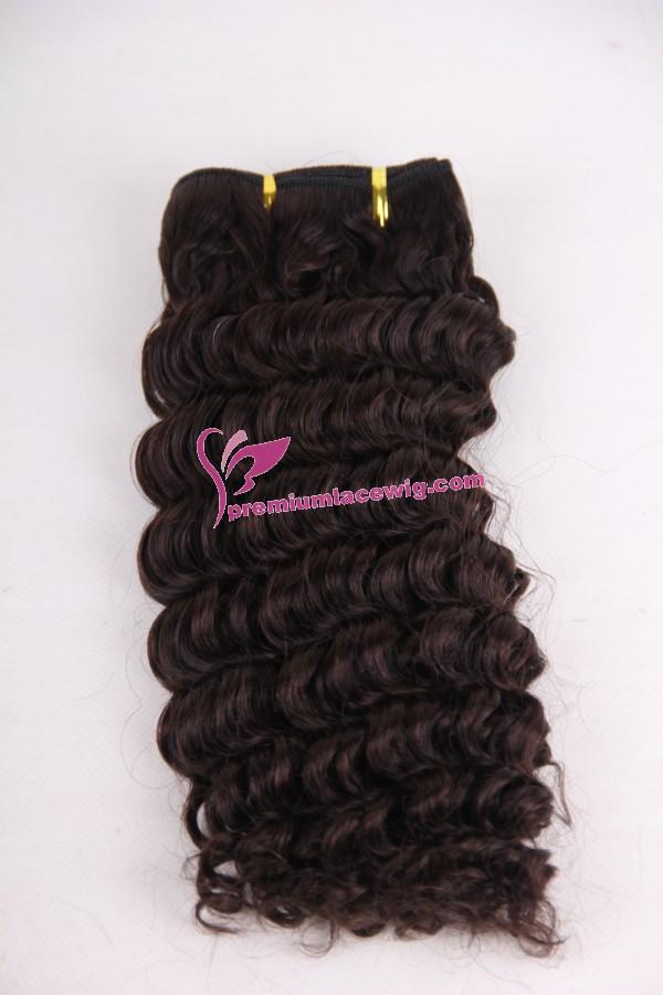 12inch 2# deep wave hand made hair weft PWC289