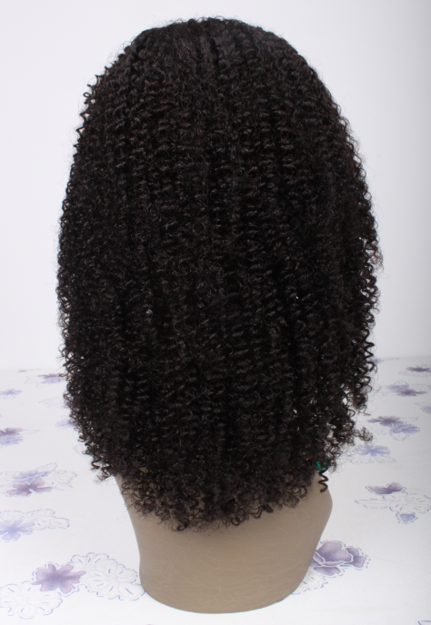 12 Inch Afro Kinky Curly Brazilian Jeri Curl Lace Front Wigs