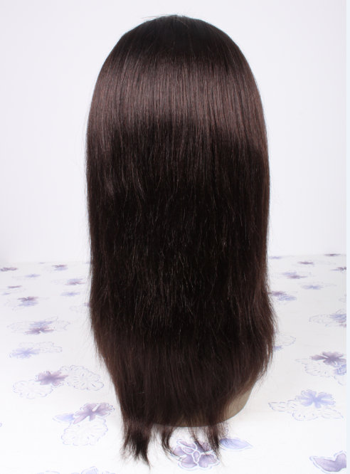 12inch color3 Mongolian hair natural straight lace front wig