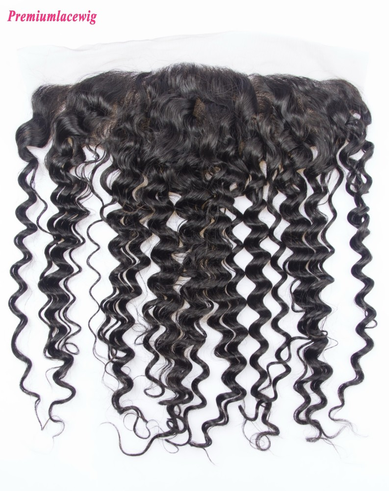 12inch Deep Wave Lace Frontal Brazilian Hair 13x4