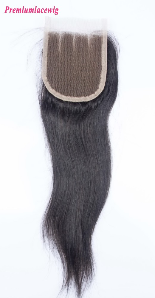 12inch Lace Closure Straight 4x4 Three Part Indian Hair