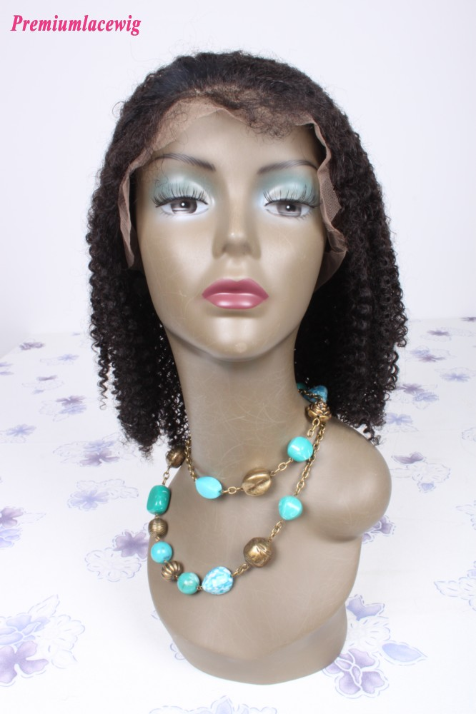 Afro Kinky Curly Brazilian Jeri Curl Full Lace Wig Natural