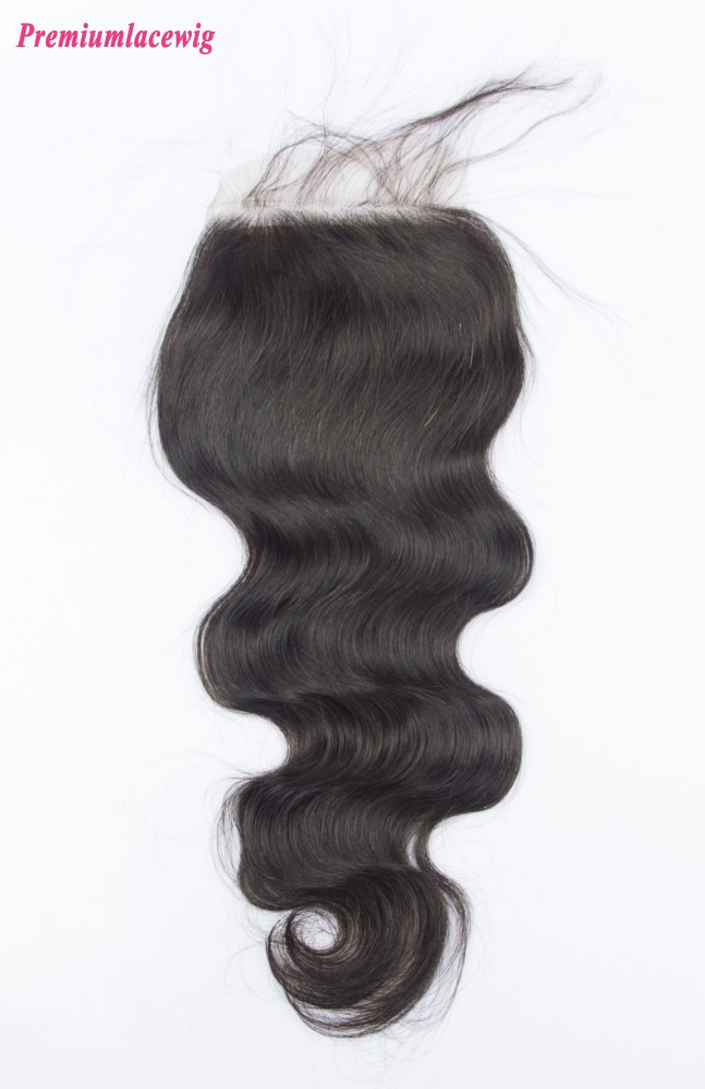 14inch Body Wave Silk Base Closure Peruvian Hair