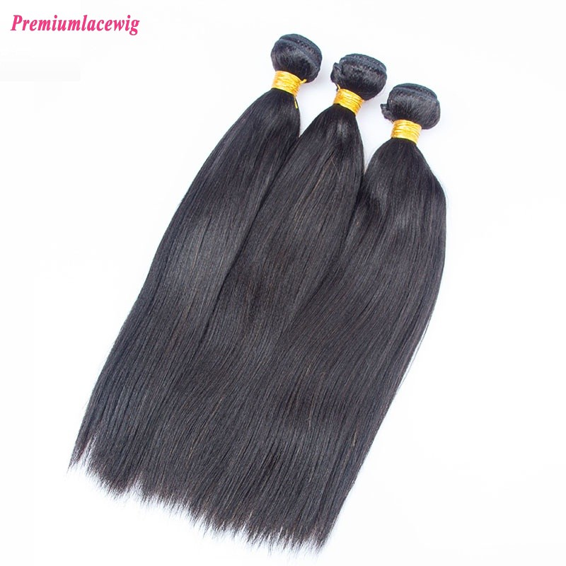 16 inch Light Yaki Brazilian Hair Human Hair Bundles, 1pc