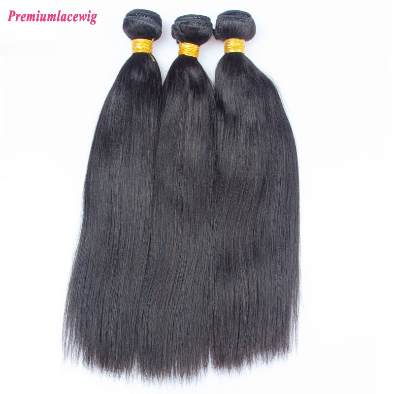 16 inch Light Yaki Malaysian Hair Human Hair Bundles 1pc