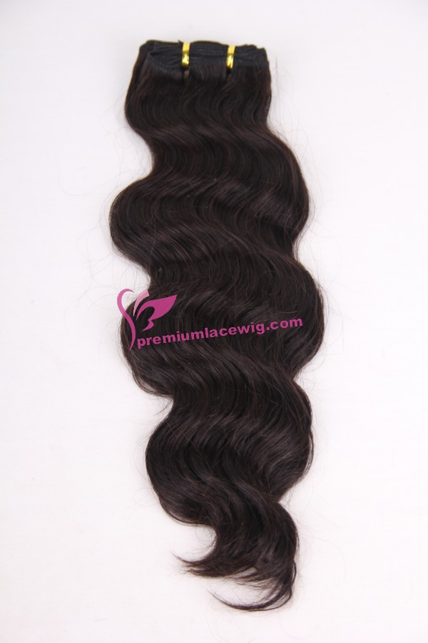 16 inch natural color malaysian body wave hair PWA-625