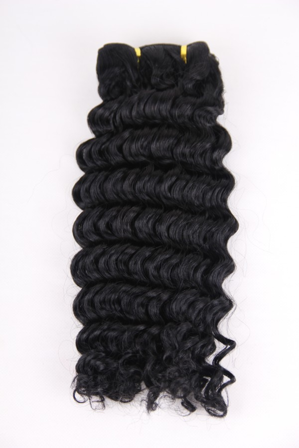 16inch 1# deep wave hair weft PWC274