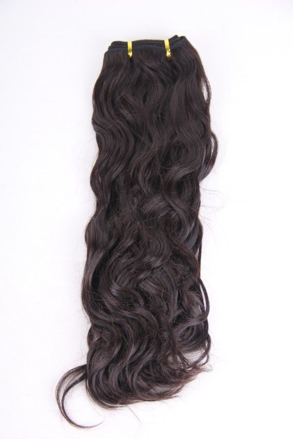 16inch 2# natural curl human hair weft PWS278