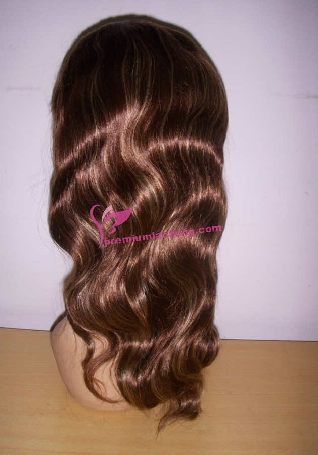 16inch 4 with highlite 27 body wave full lace wig PWS384