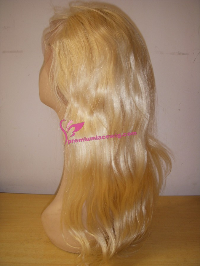 16inch 613# Malaysian hair natural wave full lace wig PWS346