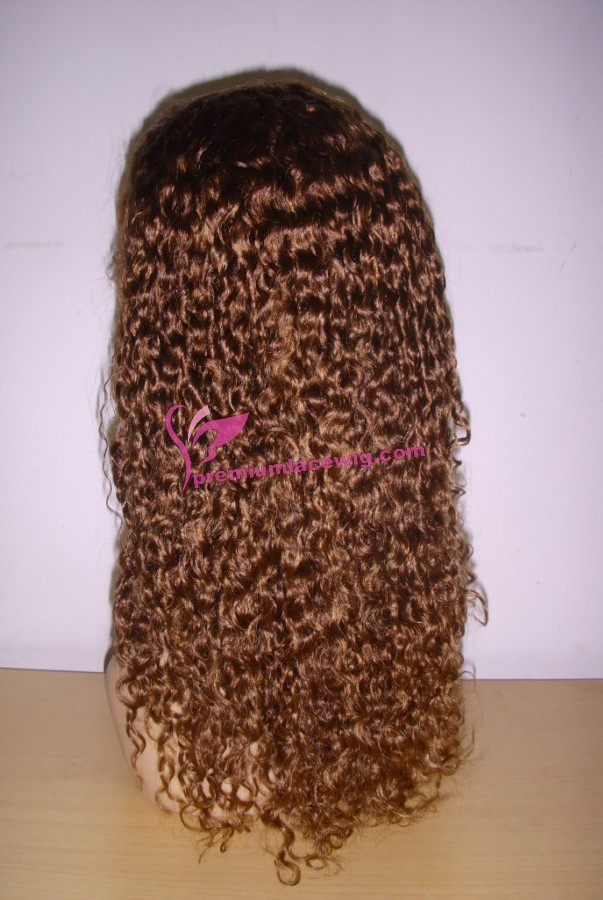 16inch color30 deep wave full lace wig PWS381