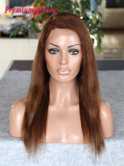 Malaysian lace front wig 16inch color 4 highlite 27