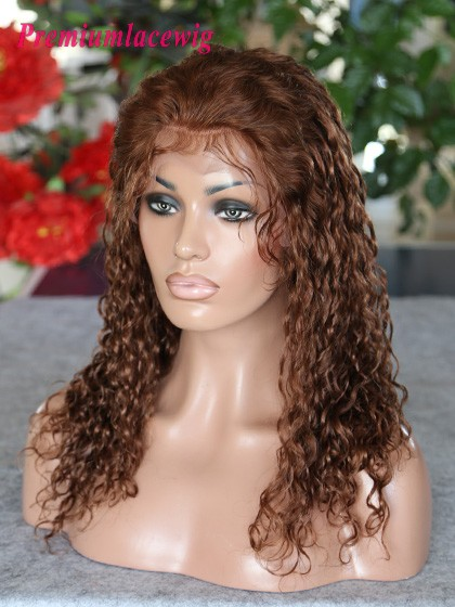 16inch Curly Brazilian Full Lace Wig Color4