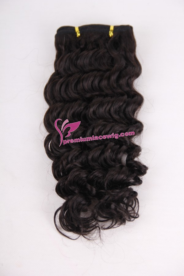 16inch deep wave hand made hair weft PWC290