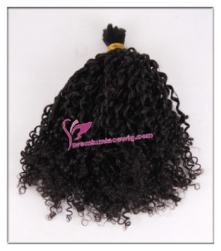 16inch natural color curly malaysian hair bulk PWL101