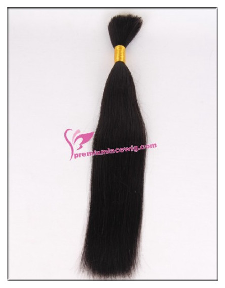16inch natural color straight brazilian virgin hair bulk PWL104