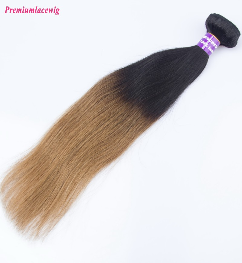 16inch Omber Two Tone T1B/30 Straight Brazilian Hair Human Hair Bundles