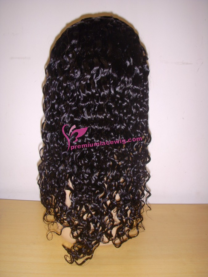 18inch 1# deep wave full lace wig PWS359