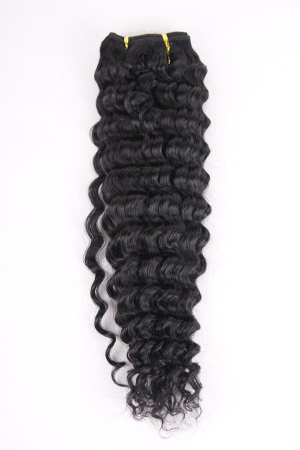 18inch 1# Peruvian deep wave hair weft PWC279