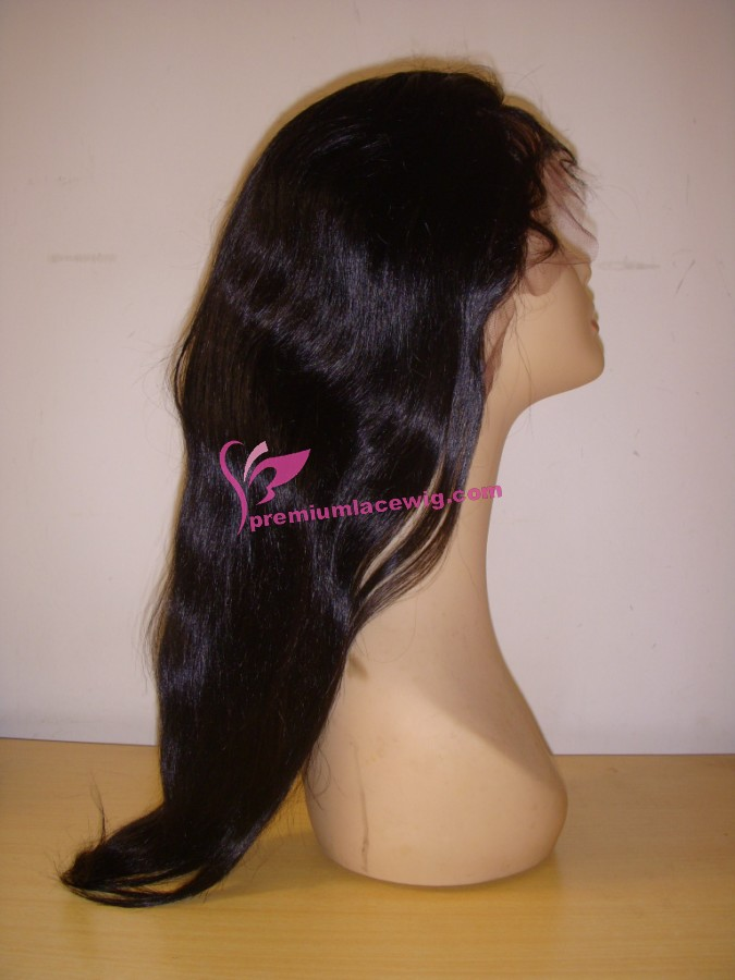 18inch 1# light yaki full lace wig PWS360