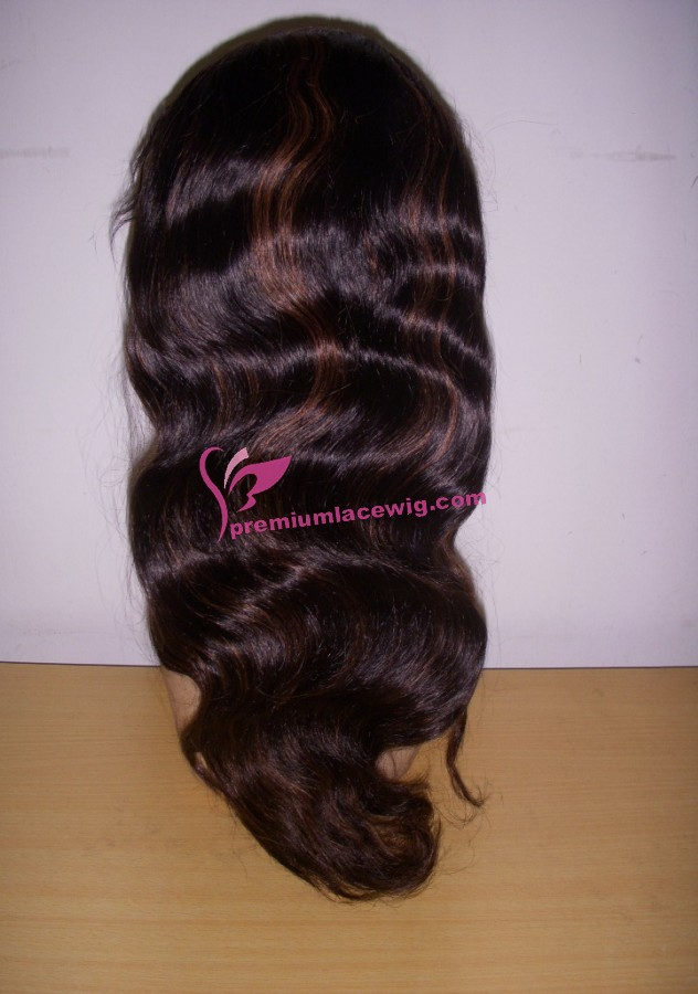 18inch 1b/30# body wave full lace wig PWS386