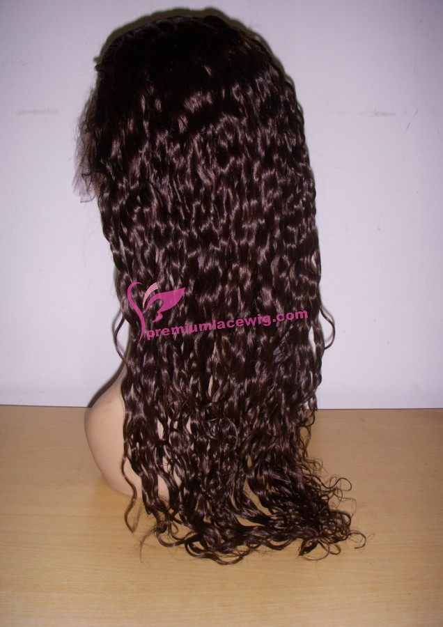 18inch 2# deep wave full lace wig PWS382