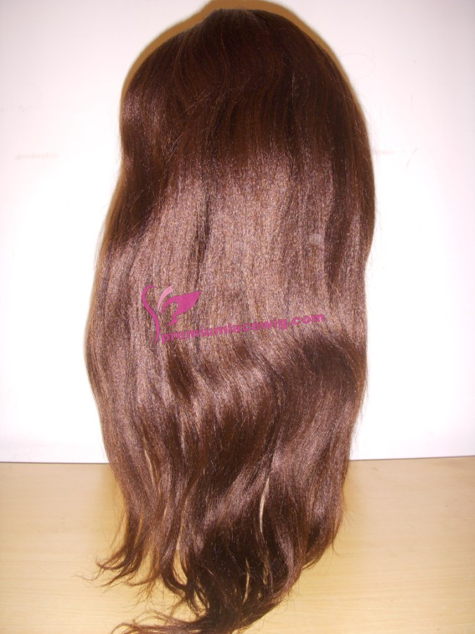 18inch 3# Medium yaki full lace wig PWC356