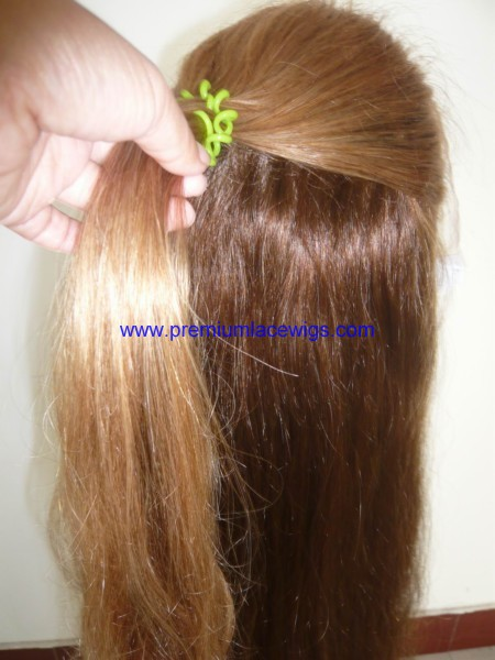 18inch 4/6/30/27A indian remy hair full lace wig PWC439