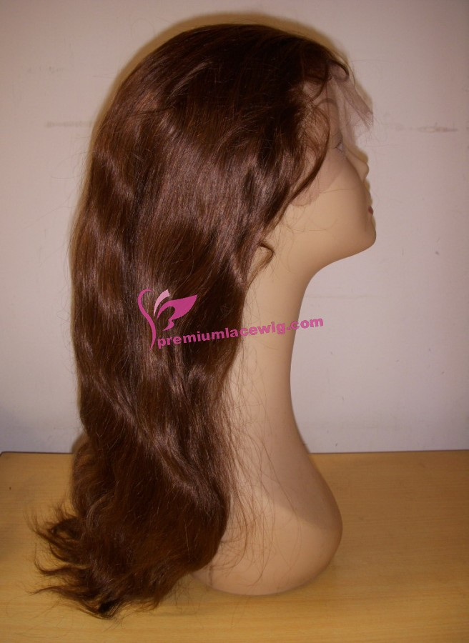 18inch Color 4 Brazilian hair straight full lace wig