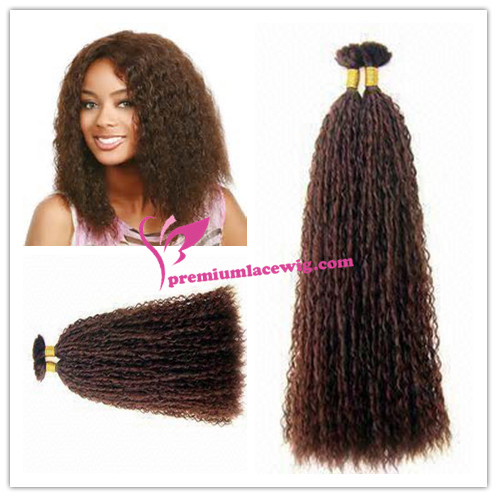 18inch #4 water wave indian hair bulk for braiding PWL100