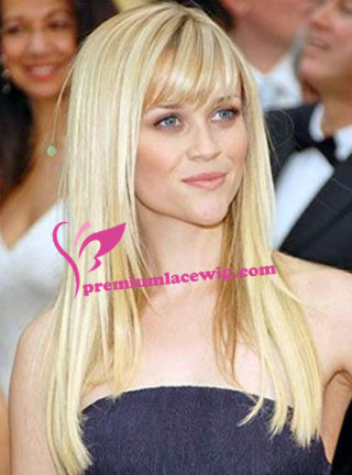 18inch blonde straight brazilian hair full lace wig PWL047