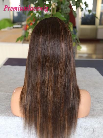 18inch color 2 highlight30 peruvian human hair straight