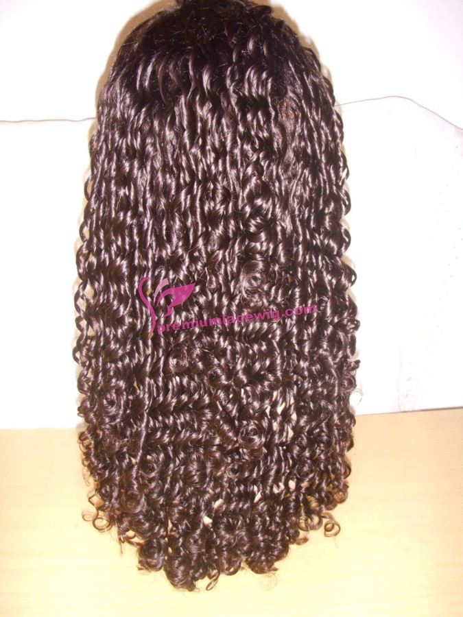 18inch color 2 jerry curl full lace wig PWS390