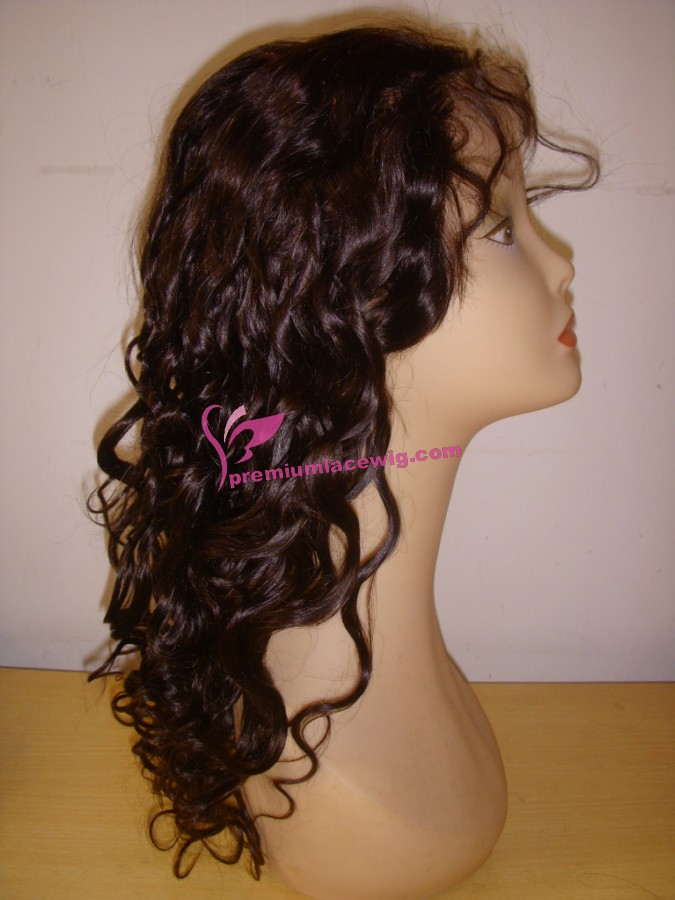 18inch color4 water wave full lace wig PWS365