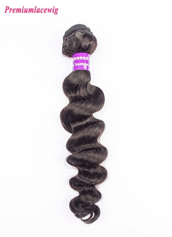 1pc/lot 14 inch Loose Wave Malaysian Hair Human Hair Bundles