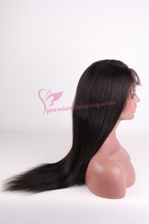 20 inch color 1b indian straight remy hair full lace wig PWA-657