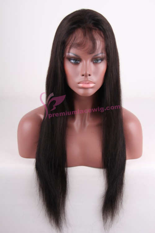 20 inch color 1b straight malaysian hair full lace wig PWA-656