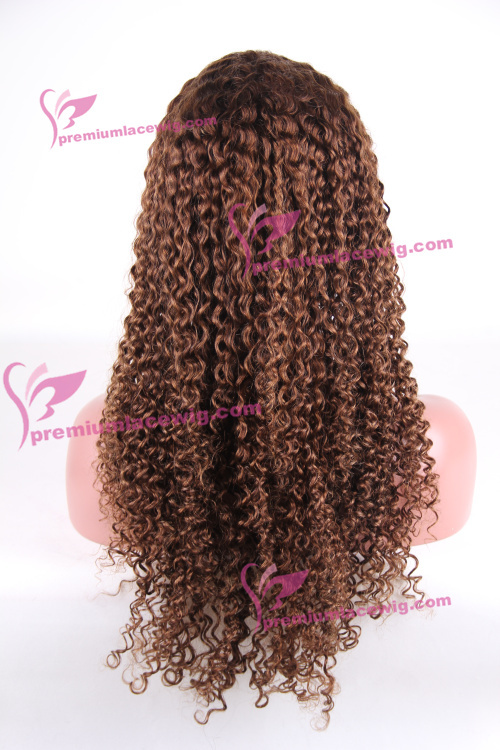 20 inch color 4 Brazilian Kinky Curly hair