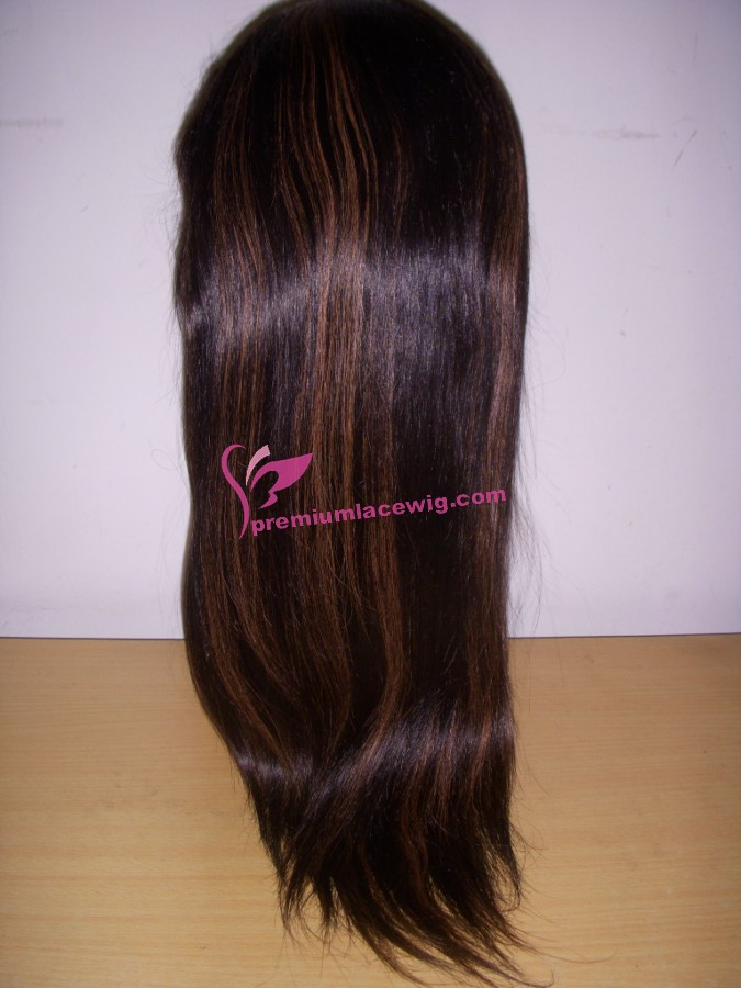 20inch 1b/30# straight full lace wig PWS385