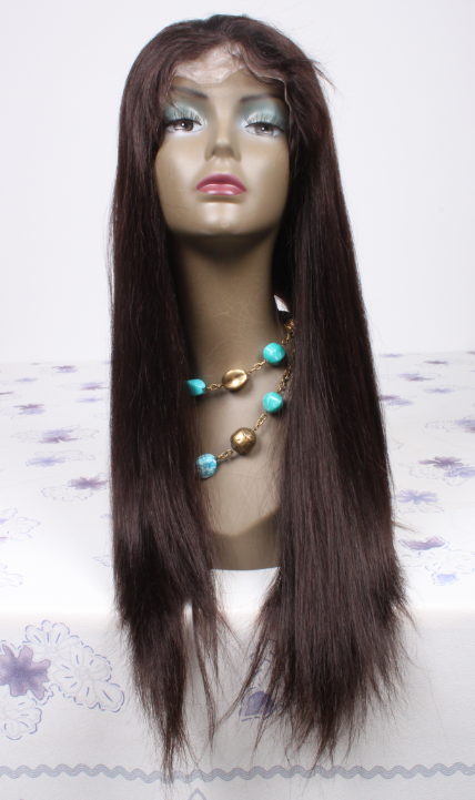 20inch Brazilian hair natural stright lace front wig