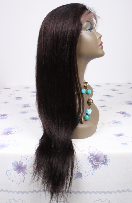 20inch color3 Peruvian hair natural straight lace front wig