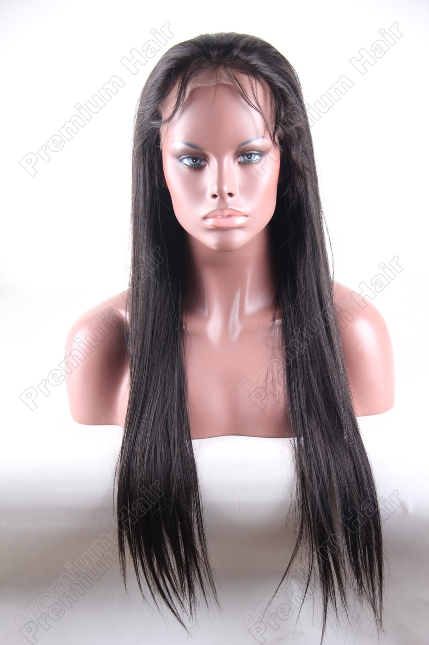 22 inch color 1b natural straight Chinese virgin hair wig PWA-659